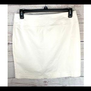 Ellen Tracy White MIni Skirt